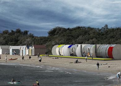 Beach Huts // Competition // Arquitraço + Lourenço Rebelo de Andrade // Lisbon 2009