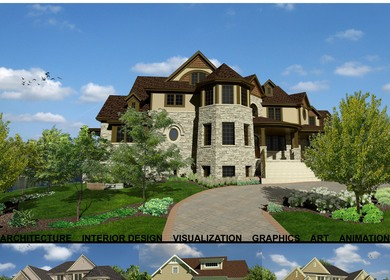 3d Visualization - Single Family Home Rendering