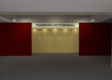 Ollswang Lecture Hall - Lighting and Acoustics