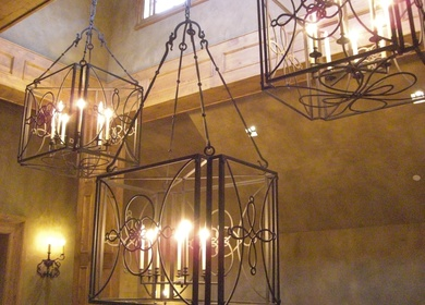 Lucky 7 Ranch Chandelier