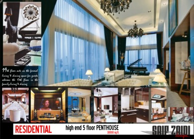 30,000 sq.ft PENTHOUSE (High end residential interiors)