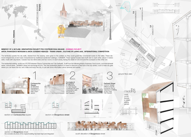 Memory of a Skyline - Renovation project for Cortevecchia Square in Ferrara, Italy