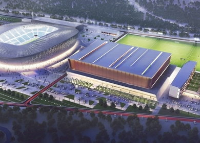 The Sports facilities complex of The Children and Youth Football Academy of FC «Zenit»