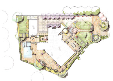 Plan Rendering of Private Residence