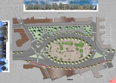 restructuration project of Donatello square