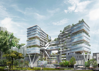 A Community-Centric Vertical Green Campus: New Campus for THEi Hong Kong