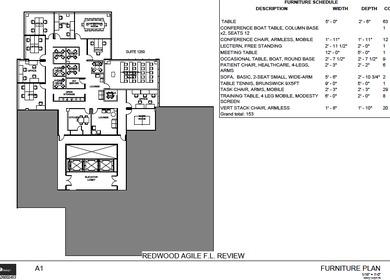 Redwood Agile - Furniture Plan