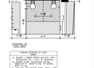 Different Heights AutoCAD Samples