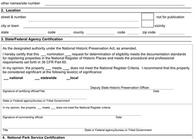 National Register of Historic Places Nomination