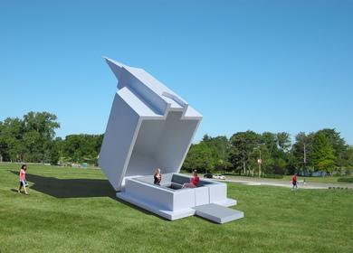 The Smart Church Pavilion, a public art structure