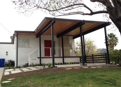 Neutra home, Car port addition