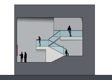 Museum Staircase Exhibit