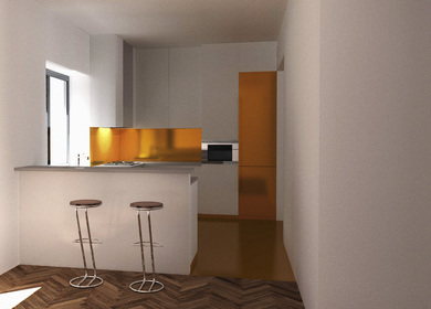 kitchen study / Single-Family House - reconstruction