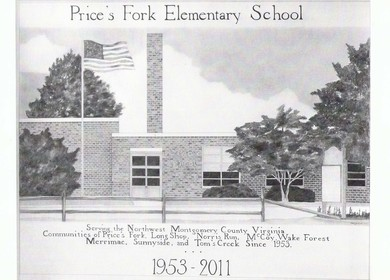 Price's Fork Elementary School hand rendering