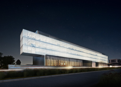 The new corporate office building for the Real Madrid