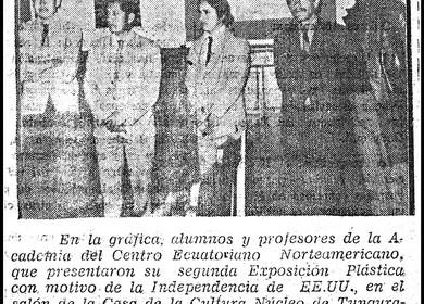 1971 Second Exhibit by Jaime F. Villacis