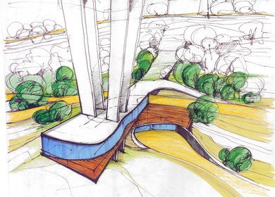 Nusle bridge - restaurant + club + gallery / pedestrian footbridge