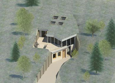 TERRAIN HOUSE 800 ©, SUSTAINABLY SET WITHIN THE LANDSCAPE