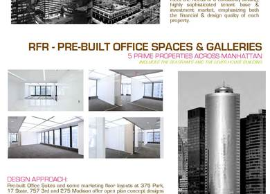 RFR Pre-Built Office Spaces and Galleries