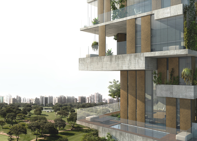 SKYCONDOS competition in Lima, Perú. Honourable Mention out of 384 proposals