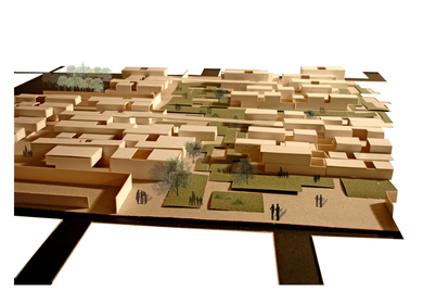Urban plan of a plot in Sector 45. Chandigarh. Private house.