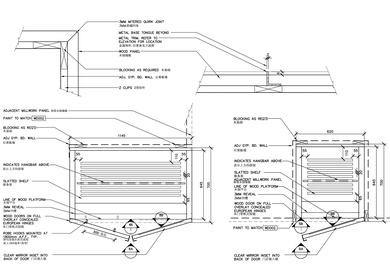 Furniture detailing