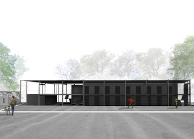 transitional shelter and health center