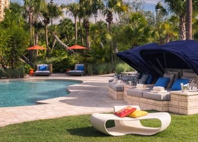 Poolside Lounge Bed Canopies - Four Seasons Hotel, Orlando FL