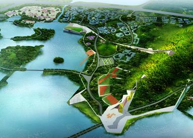 Zhushan area landscaping in Xuzhou, Jiangsu