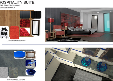 Hospitality Suite Concept Rendering and selections