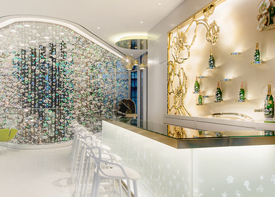 Perrier-Jouet Lounge, Paradise City casino, Seoul, South korea.