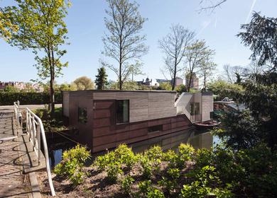 Houseboat, Utrecht,The Netherlands
