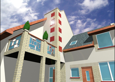 apartment with 4 flats