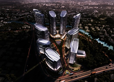 Aedas creates a holistic 'palm tree' community in Jakarta, Indonesia