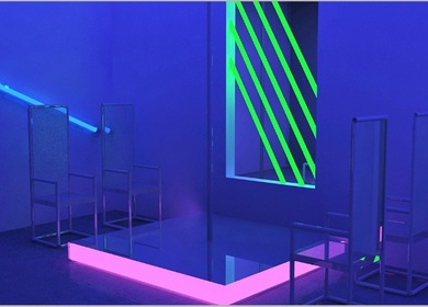 Photorealistic 3D Rendering Model of Night Club