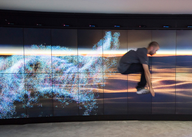 Intel's CES 110' Video Wall