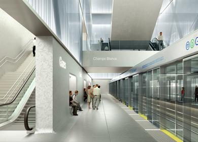 Metro station: Gares