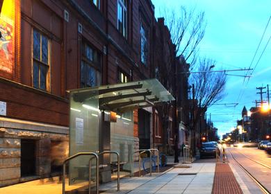 Cincinnati Streetcar Stop Shelters