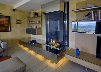 Modern Wall fireplace / cheminée mural moderne