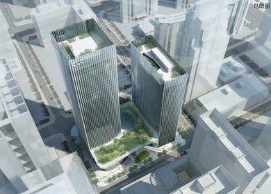 Shenzhen Twin towers - podium