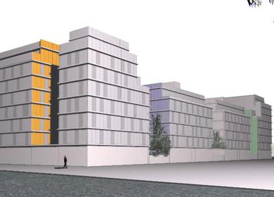 129 SOCIAL HOUSING COMPETITION Square RC-6.2 Alcala de Henares (Madrid)