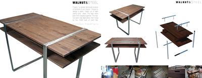 Walnut and Steel
