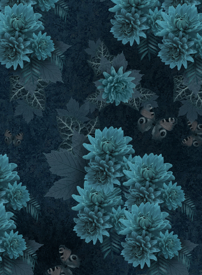 The dark garden - Wallpaper pattern design