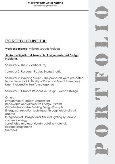 Portfolio -- Divya