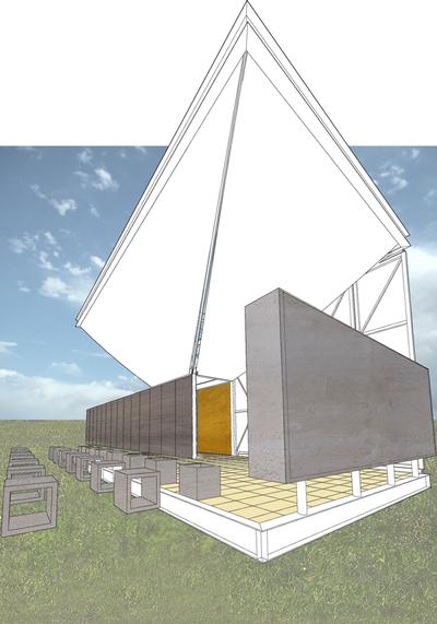 Temporary Pavillion Fundacion Espacio Anna Frank