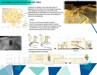 Sustainable school in Hot and dry climate