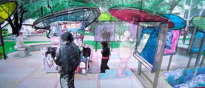 """PLAZA ""SAN JUAN"". Design Project. 2006"