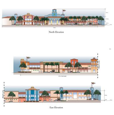 Cabo Paradise Condominium North & East Elevations