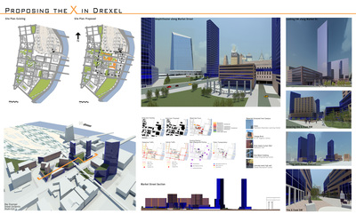 Putting the X in Drexel is a Mix Use project on Drexel University Campus near 30th Street Station