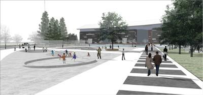 Landscape for Sports Center